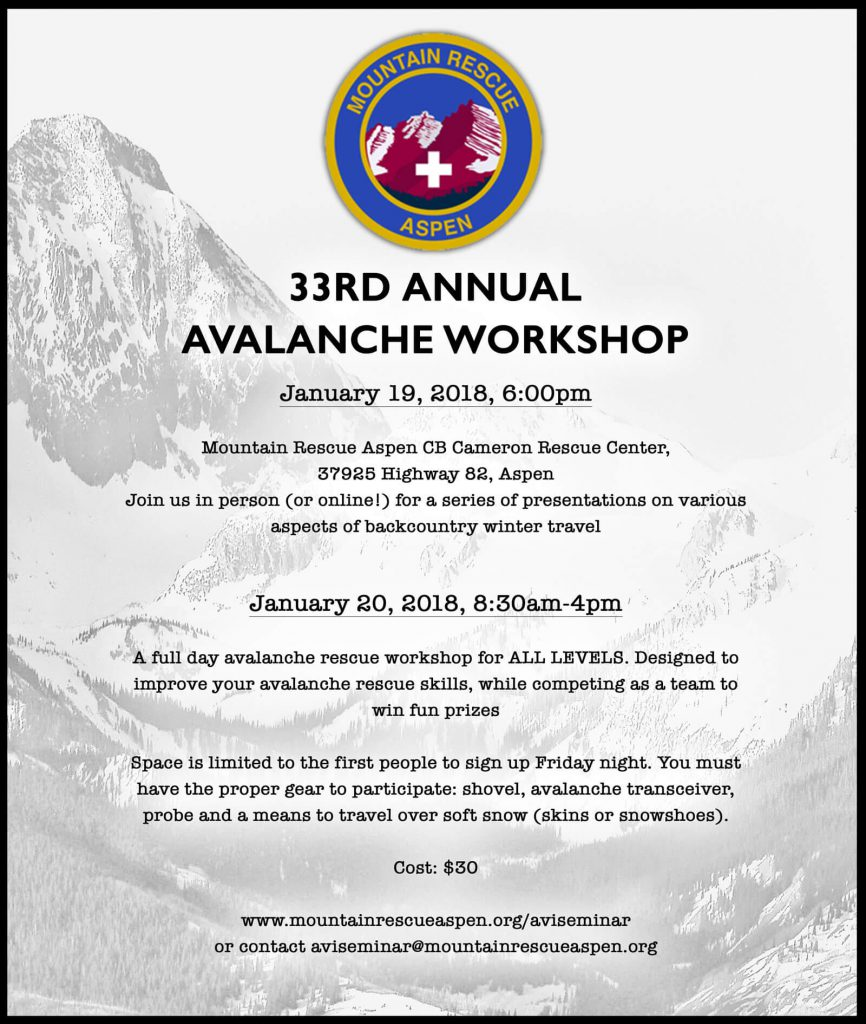 33rd Annual Avalanche Workshop