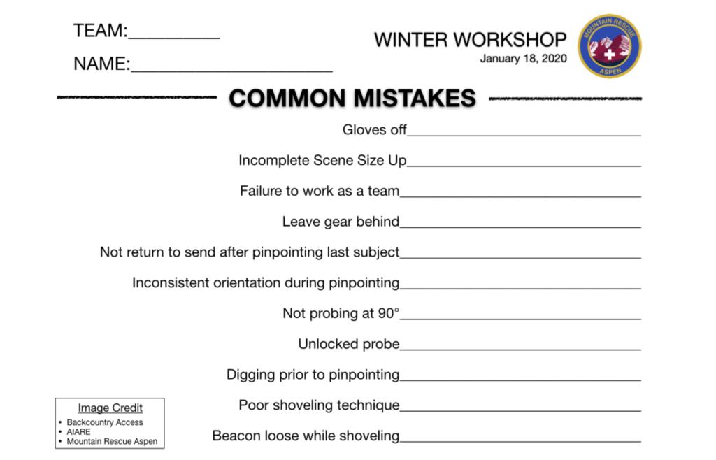 Companion Rescue Score Card